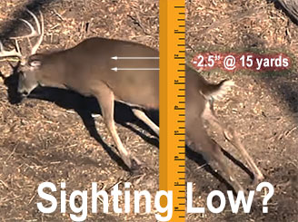 Sighting-in 2 inches low?