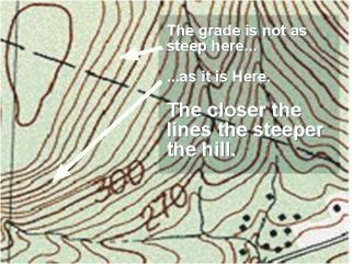 Cliff On A Topographic Map.Topo Maps For Hunting Whitetails